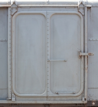 heavy steel door